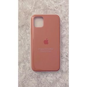 iPhone 11 Pro Max Apple Silicone Case-Coral